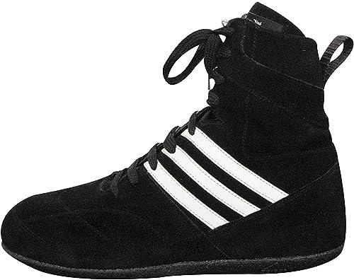 chaussures boxe cuir noire femme