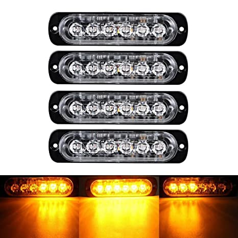 Truck Parts Back To Search Resultsautomobiles & Motorcycles Special Section 4x Amber 4 Led Auto Car Truck Emergency Beacon Warning Hazard Flash Strobe Light Beautiful In Colour
