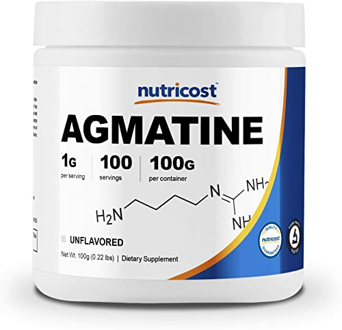 Nutricost Agmatine 100 Grams – Pure Agmatine 100 Servings Agmatine Sulfate – High Quality Powder