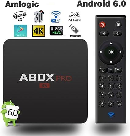 globmall 2017 Android 6.0 TV Box, Abox Pro con nuevos mando a distancia RF 15 metros rango de trabajo 360 ° Full Control: Amazon.es: Electrónica