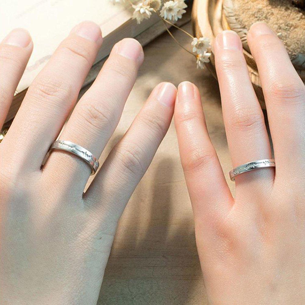 qinlee Coppia Anello Proposta di Matrimonio creativo anello uomini e donne anello regolabile bigiotteria elegante regali anello aperto # 1