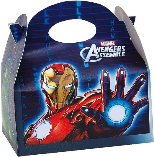 ALMACENESADAN 0656, Pack 4 cajitas de Carton para chuches Avengers, para Fiestas y cumpleaños: Amazon.es: Juguetes y juegos