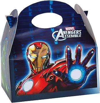 ALMACENESADAN 0656, Pack 4 cajitas de Carton para chuches Avengers ...