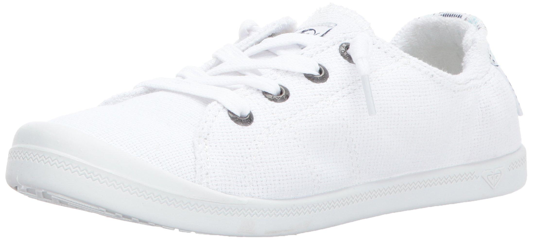 Roxy Women's Shoe Flat 9 M Sneaker, White, 9 M US