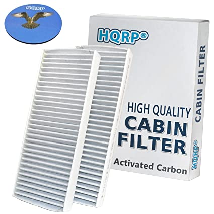 HQRP 2-Pack Carbon A/C Cabin Air Filters for Nissan NV1500 NV2500 NV3500  2012-2014 plus HQRP Coaster