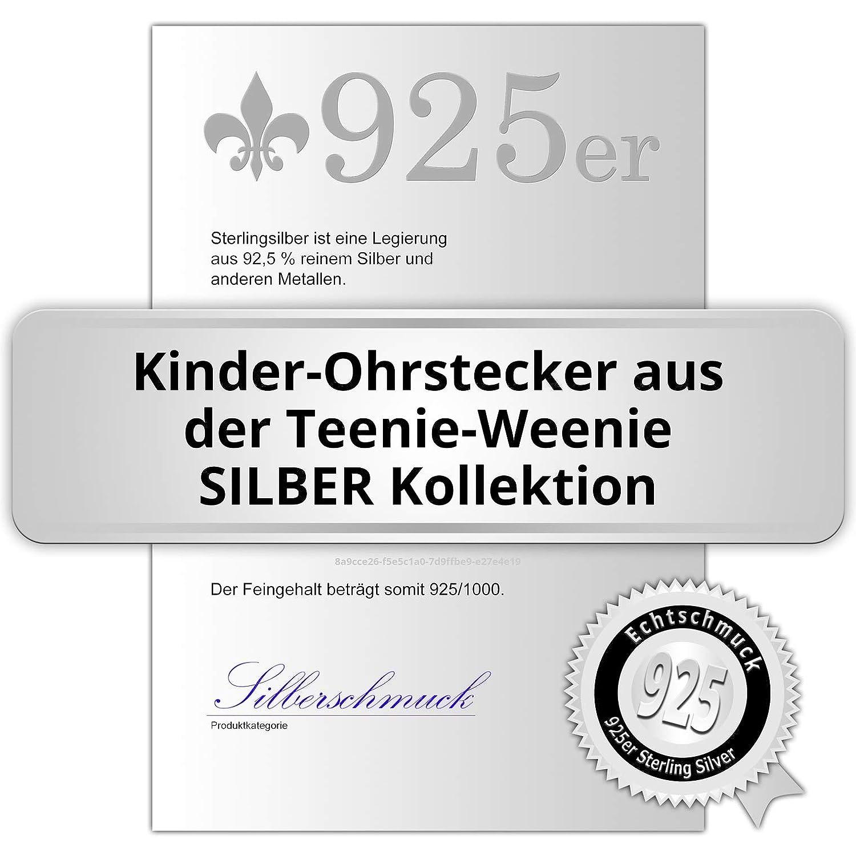 Tee-wee boucles doreilles pour enfant en argent sterling 925 en forme de boucles dsDO8102W chat blanc