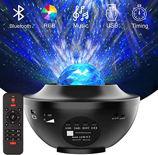 Details about  /USB Night Ambient Light  Sky Watermark Projector Remote Control For Home