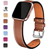 Maledan Replacement Bands Compatible for Fitbit Versa/Versa 2, Versa Lite Edition and Versa Special Edition, Genuine Leather Band Replacement Accessories Strap for Fitbit Versa Smart Watch, Women Men