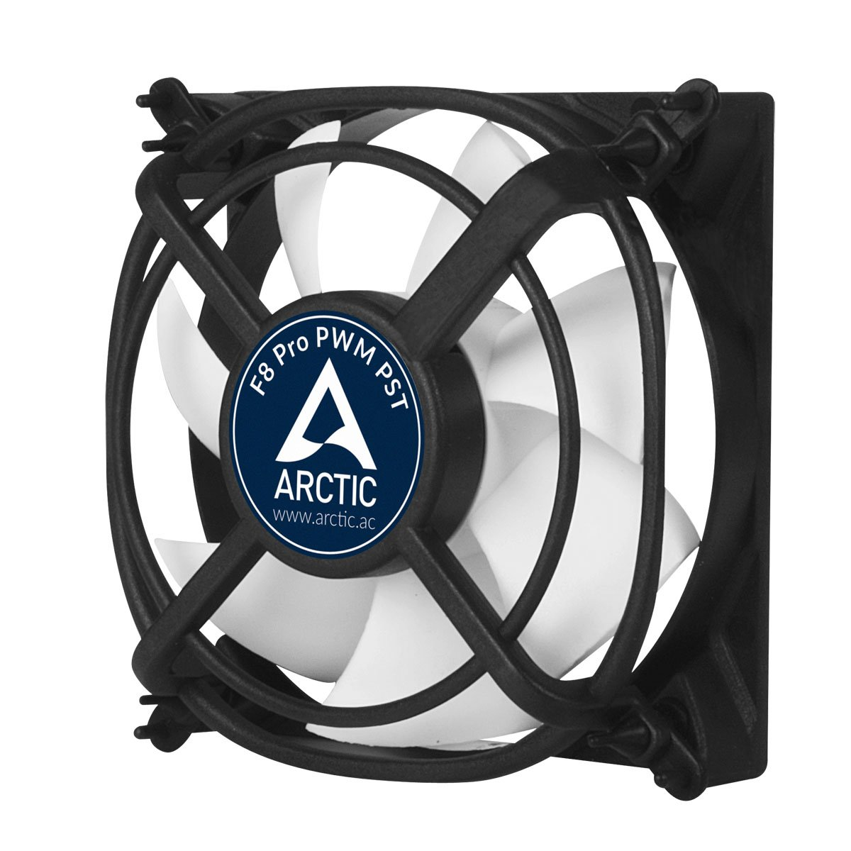 ARCTIC F8 PRO PWM PST - 80mm Fluid Dynamic Bearing Low Noise PWM Controlled Case Fan with PST Feature & Anti-Vibration System