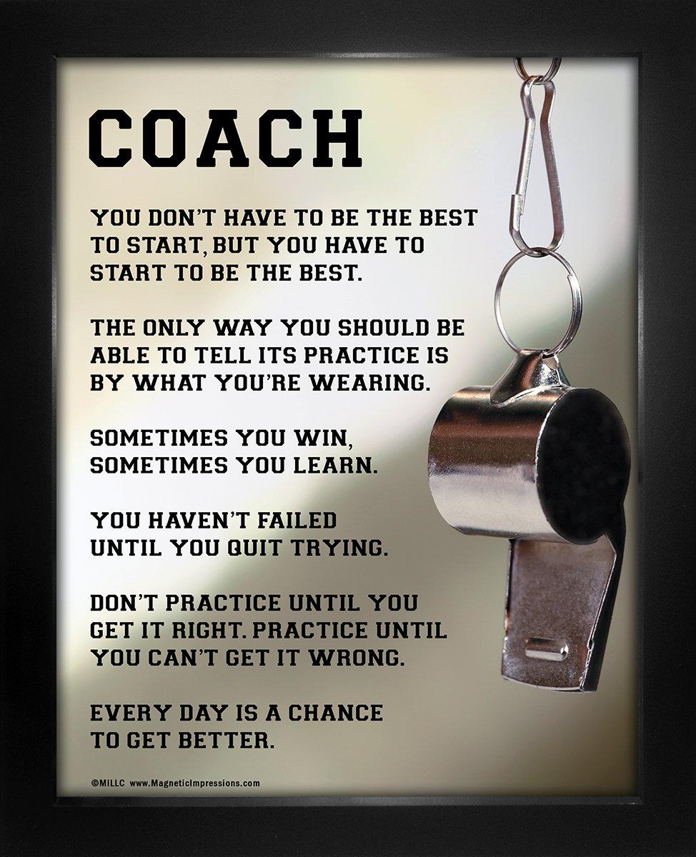 """Framed Coach Motivational 8"""" x 10"""" Sport Poster Print"""