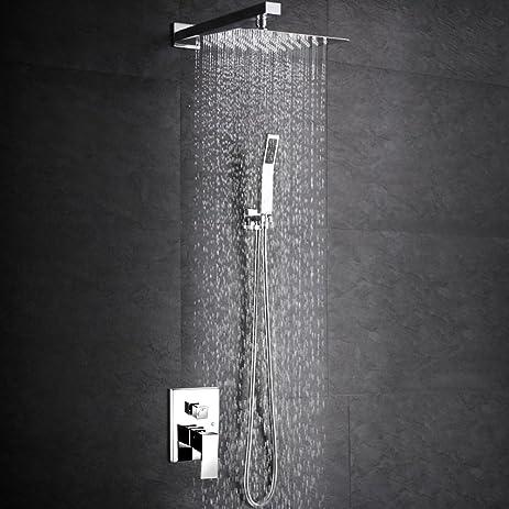 sr sun rise srsh f5043 bathroom luxury rain mixer shower combo set wall mounted rainfall