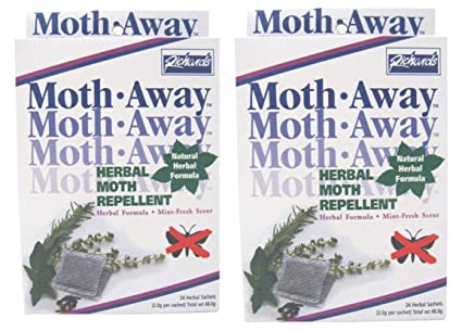 Two Packs Safe Herbal Moth Away Repellent Non Toxic Natural Repellent 48 Sachets