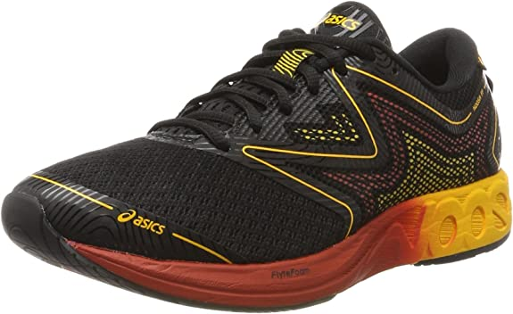 Asics T722N9004, Zapatillas de Running para Hombre, Negro (Black/Gold Fusion/Red Clay), 42.5 EU: Amazon.es: Zapatos y complementos