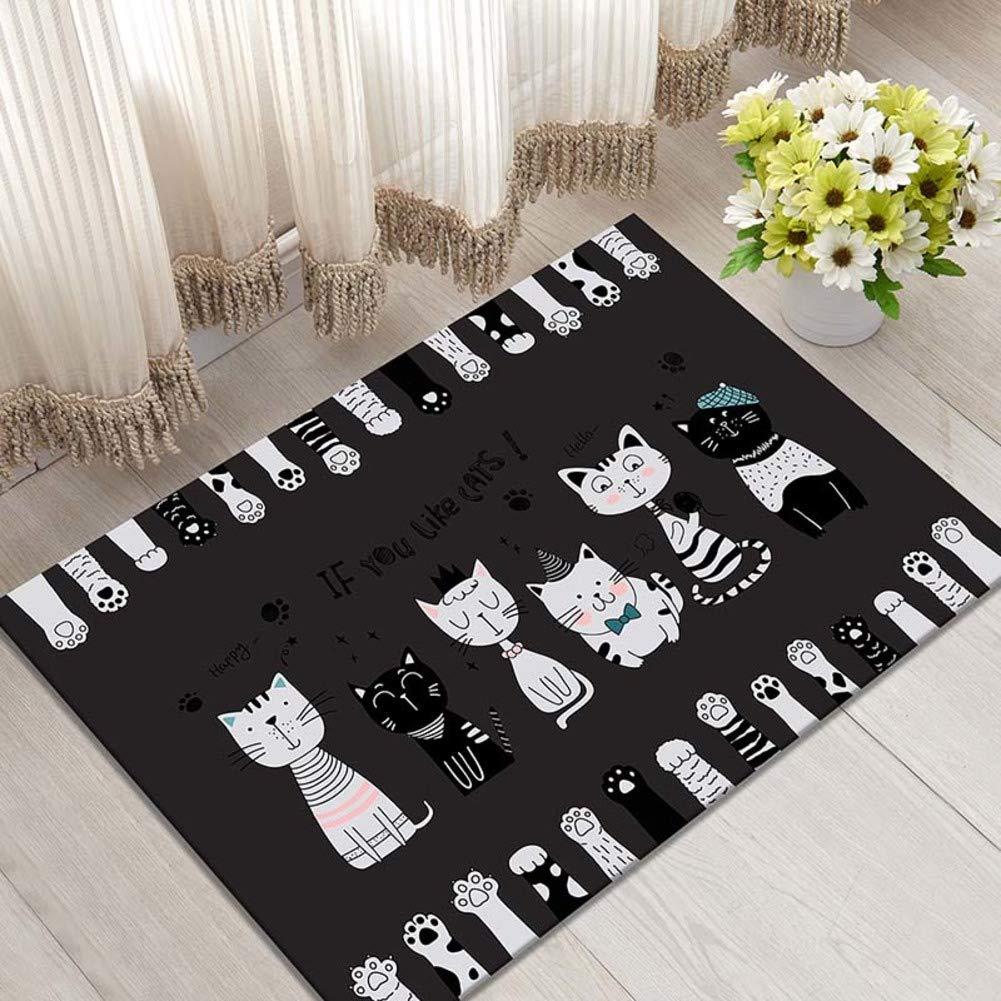 E 60x90cm(24x35inch) Door mat,Entrance Door mats Carpet Door mat Non-Slip mat Floor mat-D 80x120cm(31x47inch)