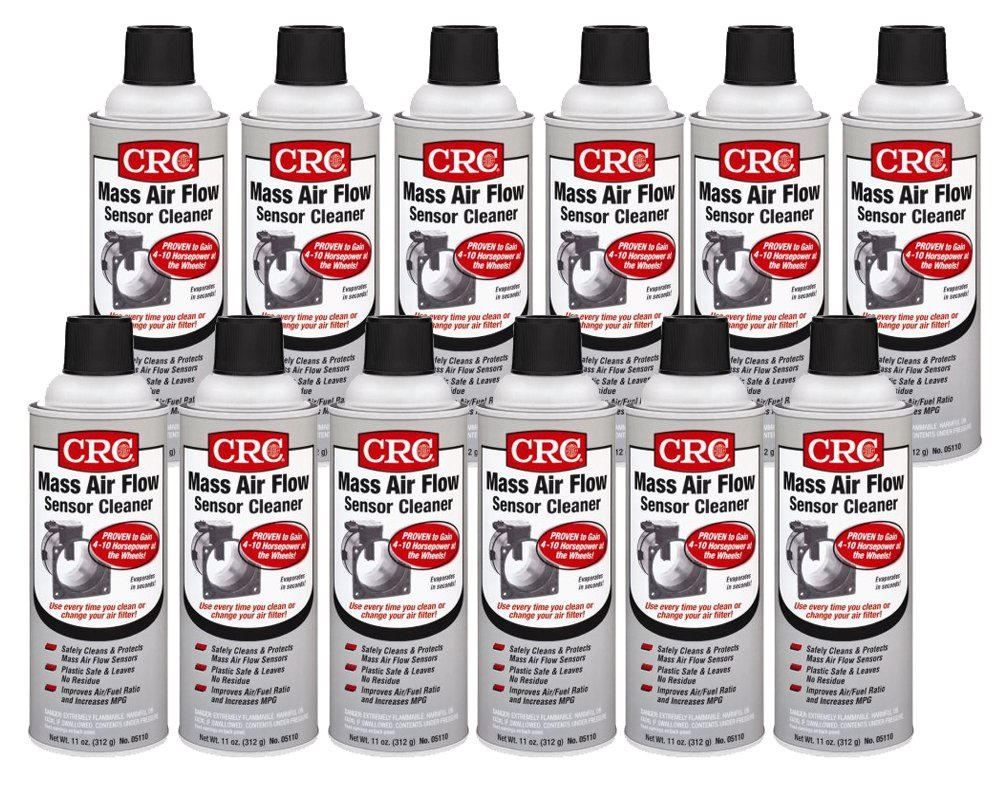 CRC 05110-12PK Mass Air Flow Sensor Cleaner, 11. fluid_ounces, 12 Pack