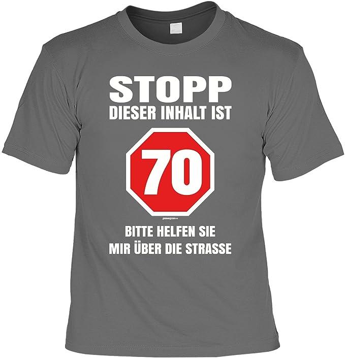 Lustige Sprüche Fun Tshirt Stopp 70 Bitte Helfen Sie Mir