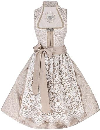 ea59671c57817c Tramontana Hochzeits-Dirndl Helena (weiß-beige): Amazon.de: Bekleidung