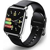 Smartwatch, Reloj Inteligente con Monitor de Ritmo Cardíaco, Relojes Deportivo con Monitor de Calorías, Notificaciones de Men