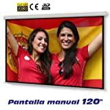 "Pantalla de proyeccion manual de 120"" ( 2,44 x 1,83 metros )"