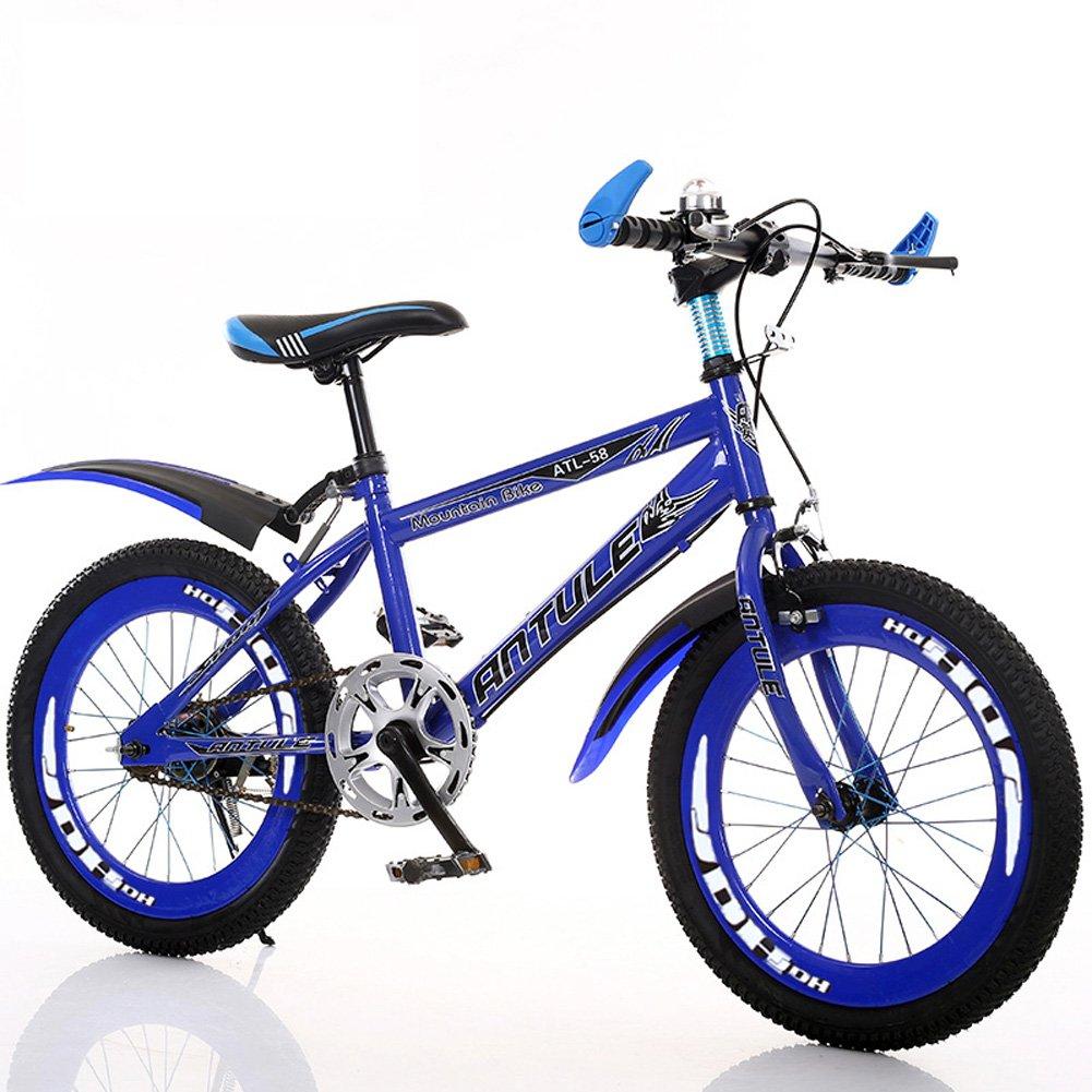 【10%OFF】 CHS@ 子供の自転車6-7-8-9-10-11-12-15年の古いベビーキャリッジの男の子20/22インチの生徒マウンテンバイク 子ども用自転車 (色 (色 : 青, サイズ : さいず さいず : 22