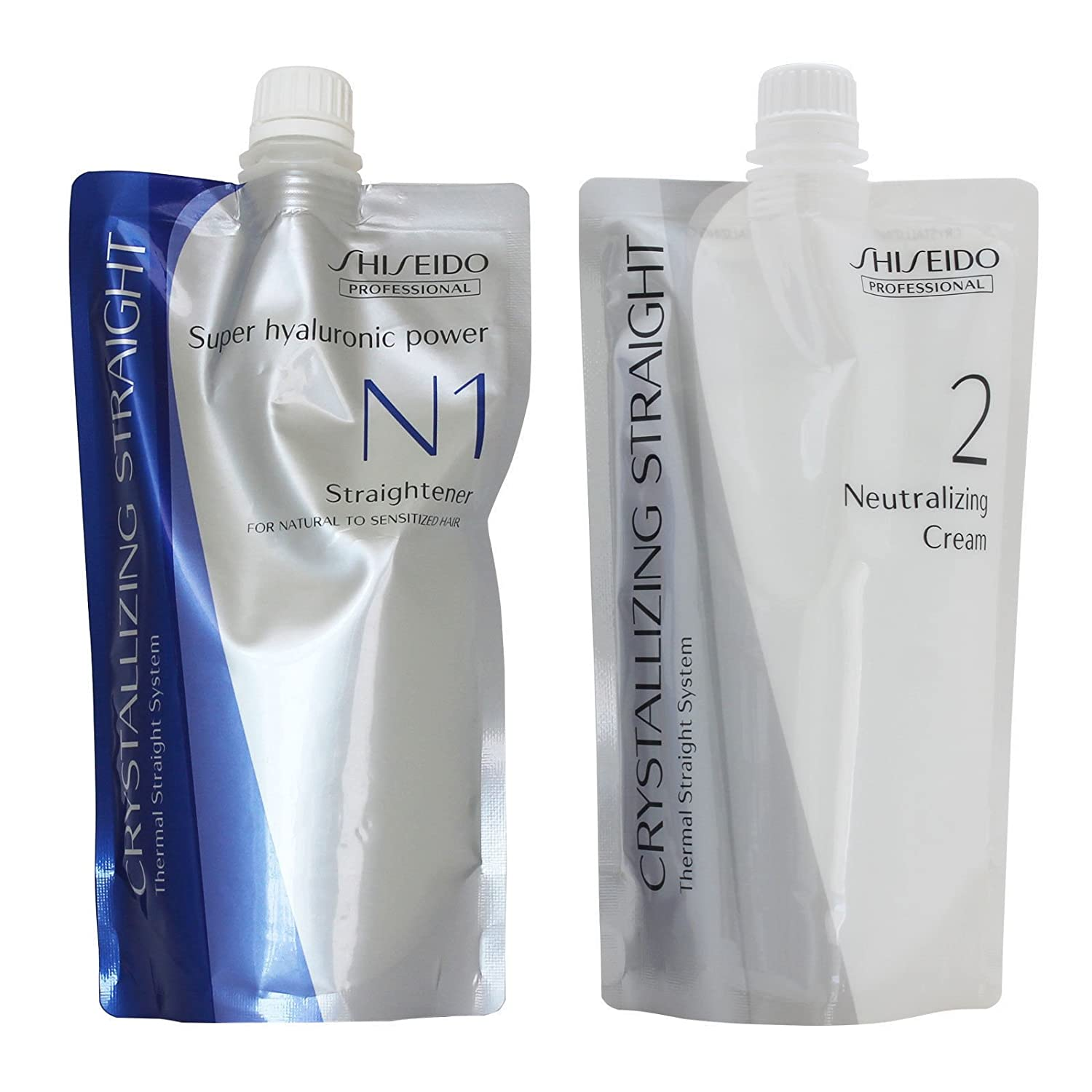 Shiseido Crystallizing Straight For Natural to Sensitized hair(old version :Fine or Tinted Hair) N1+2 400g(a piece)
