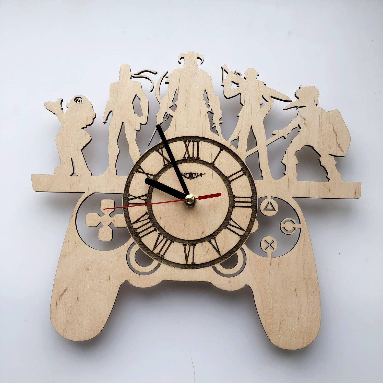 Playstation Games Reloj de pared Eco Wood - Regalos únicos ideas originales regalos - Decoración del hogar pared Arte para salón cocina dormitorio ...