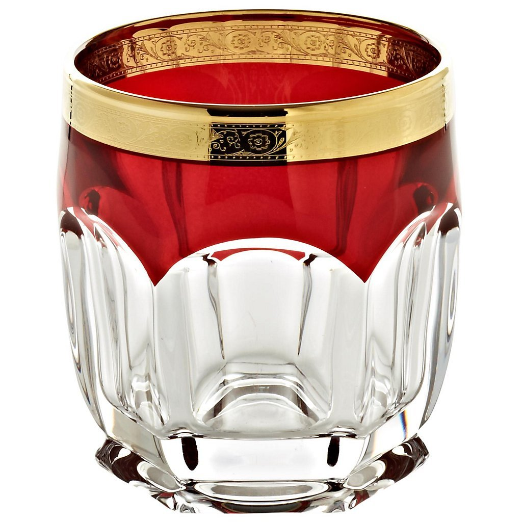 Drinking glass ''Safari'' ruby 250ml, transparent/ruby, modern style, glass (GERMAN CRYSTAL powered by CRISTALICA)