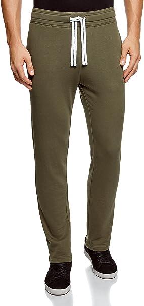 oodji Ultra Hombre Pantalones de Punto Básicos: Amazon.es: Ropa ...