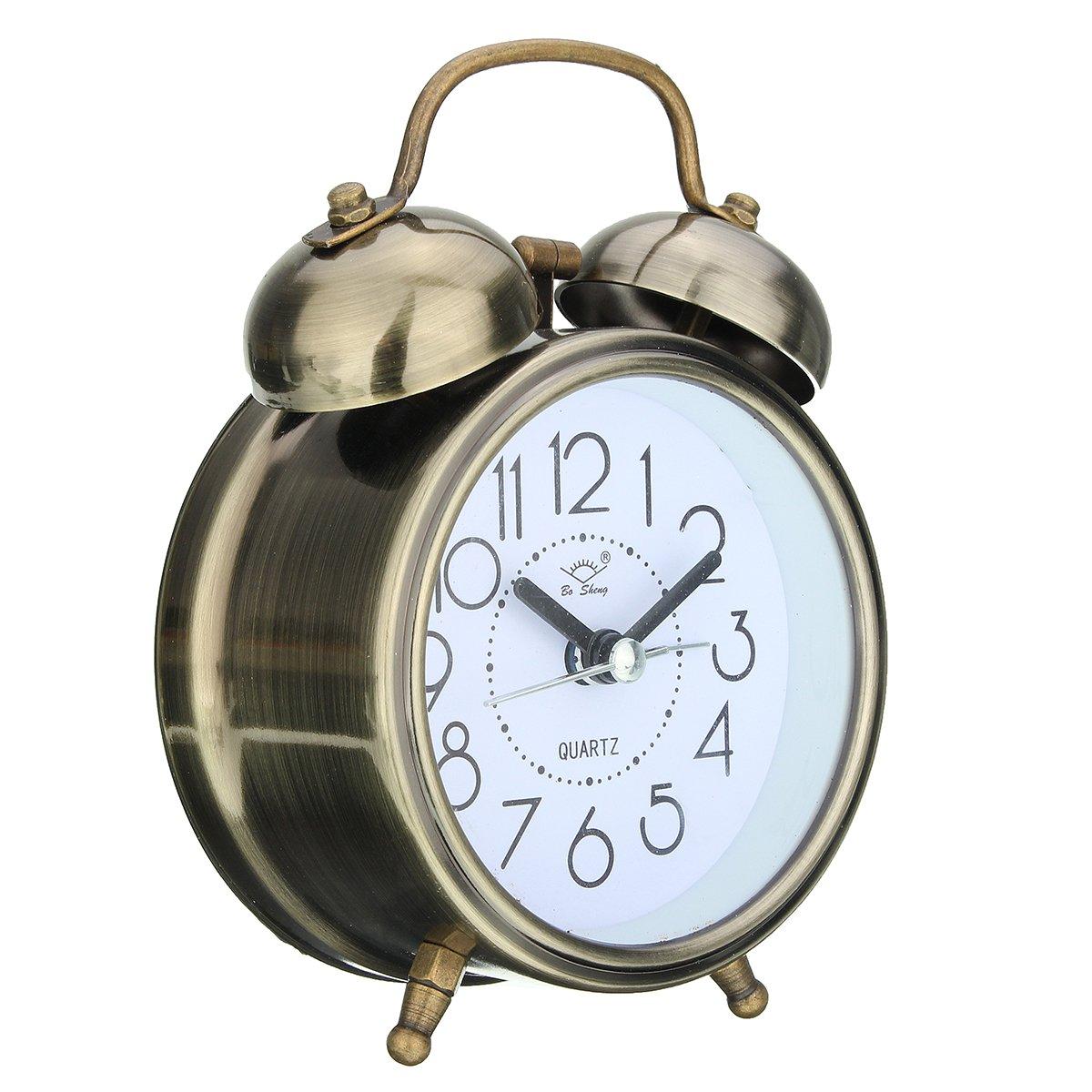 Prisma pro interior plat series amp tech series - Amazon Com Jeteven Vintage Silent Alarm Clock Loud Twin Bell Mute Alarm Clock Quartz Analog Retro Bedside And Desk Clock With Nightlight Bronze Home