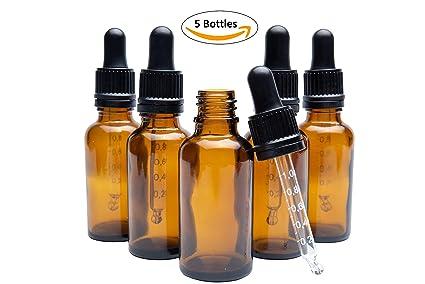 Botella cuentagotas con pipeta graduada, botella de cuentagotas de ojos, botella de aceite de