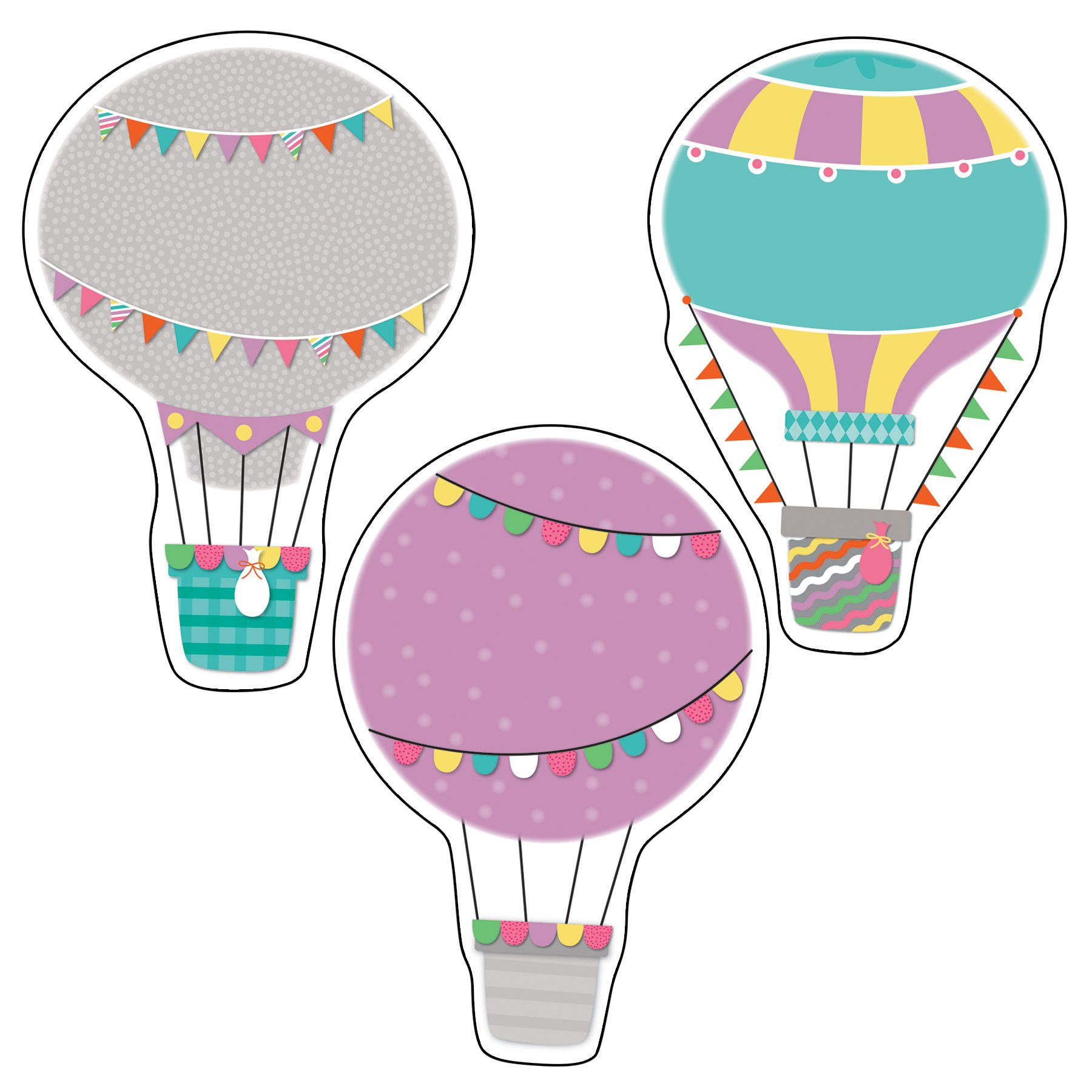 Up and Away Hot Air Balloons Cut-Outs: Carson-Dellosa Publishing ...