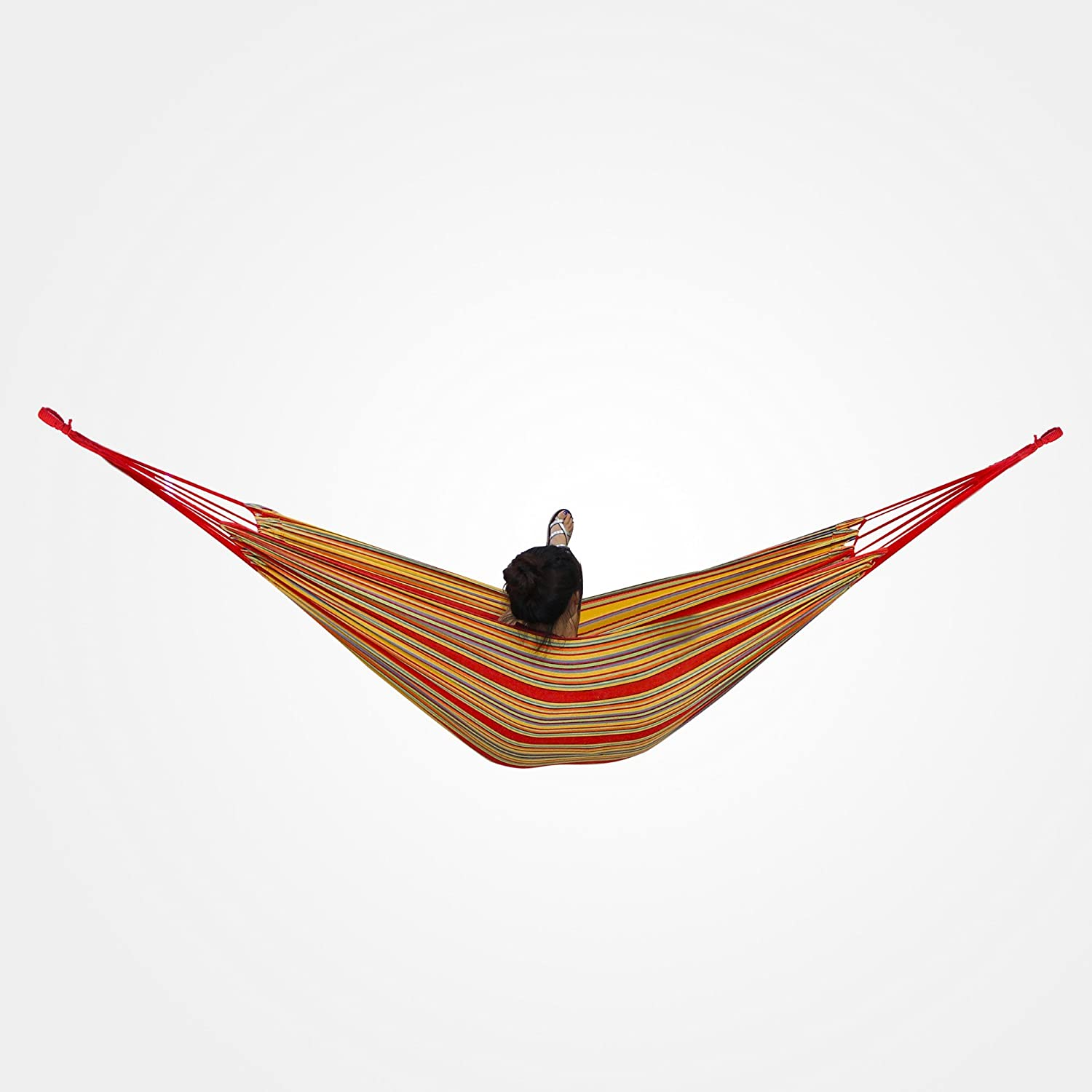 Domaier Hanging Bed, Hammock, Beige, with Stand H-Type, Brazilian, Cotton, Capacity: For 2 people, Hammock material: Polyester Domaier Limited
