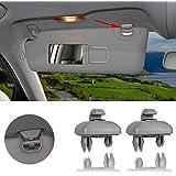 2-Pack Interior Sun Visor Hook Clip Bracket for A1 A3 A4 A5 Q3 Q5 OEM(8E0 857 562) (Grey)