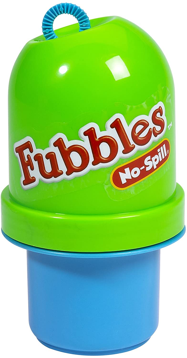 Little Kids Fubbles No-Spill Tumbler Includes 4oz Bubble Solution and Bubble Wand (Tumbler Colors May Vary)