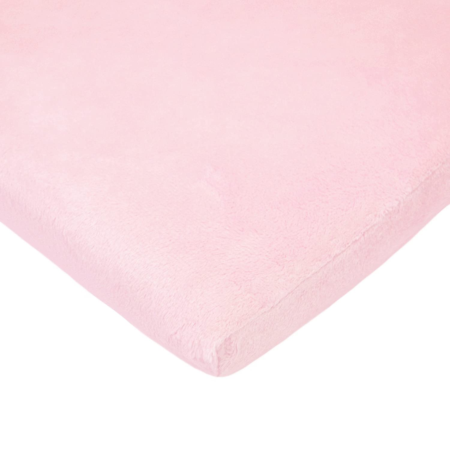 American Baby Company Heavenly Soft Chenille Fitted Cradle Sheet, Pink, for Girls
