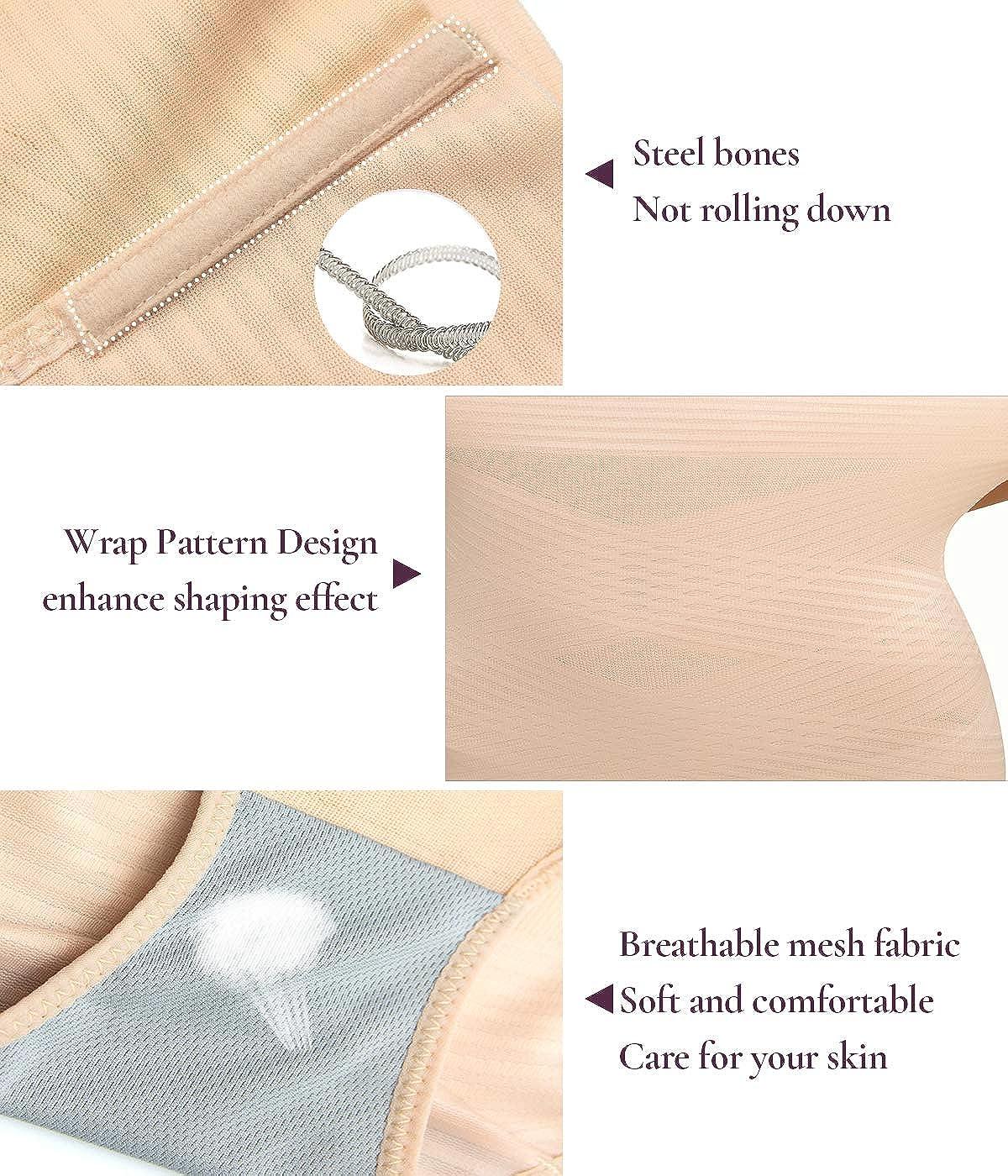COMFREE Contenitiva a Vita Alta Mutande Invisibile Contenitive Slip Intimo Shapewear Modellante Guaina da Donna Pancia Snellente Underpant da Taglie Forti Dimagrante Shaper