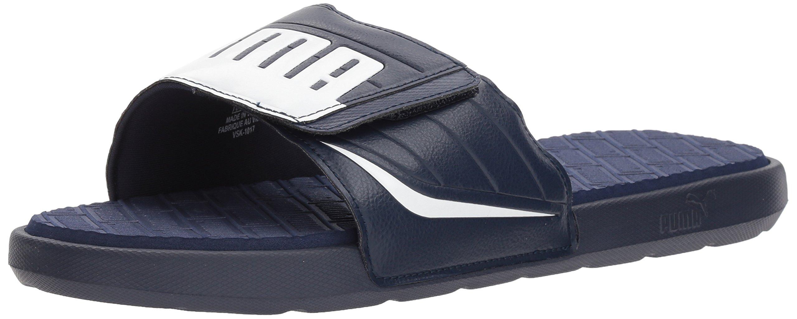 PUMA Men's Starcat Bold Plus Slide Sandal, Peacoat White, 4 M US