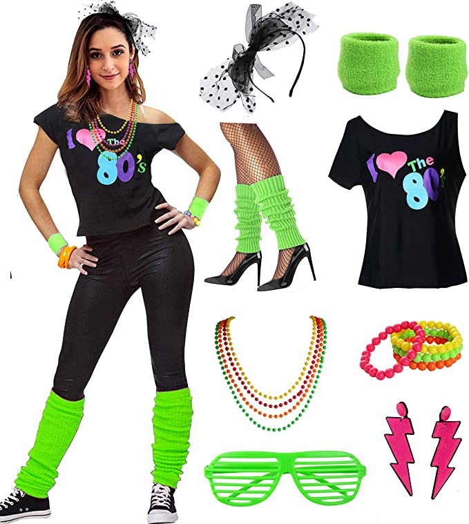 80s Costumes, Outfit Ideas- Girls and Guys Womens I Love The 80s Disco 80s Costume Outfit Accessories $29.99 AT vintagedancer.com