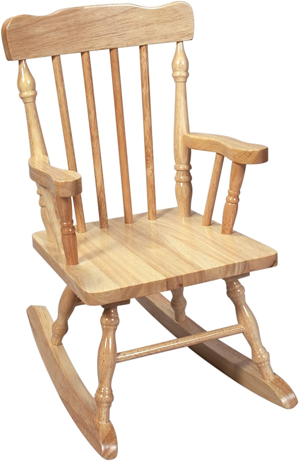 Gift Mark Child's Colonial Rocking Chair, Natural
