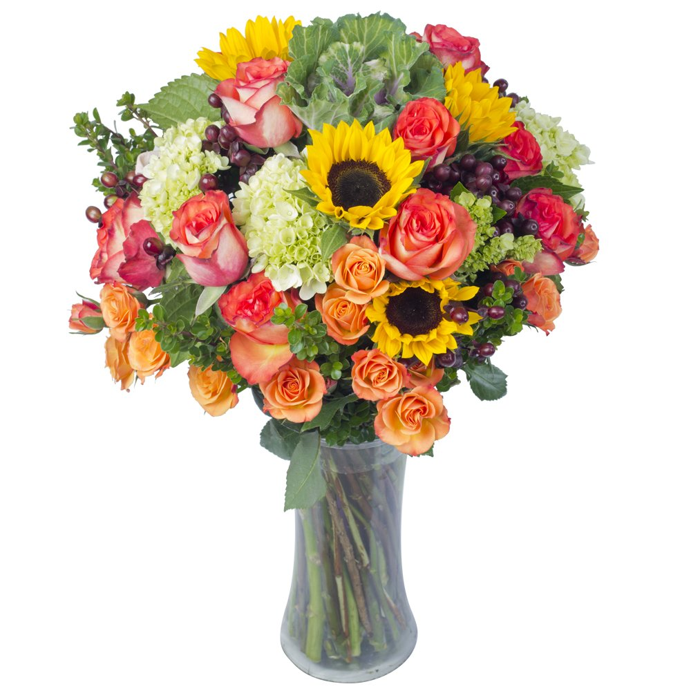eFlowy Lovely Expression Vase Floral Arrangement