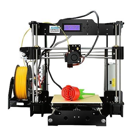 Version Mejorada – alunar DIY 3D acrílico Alta precisión Impresora RepRap Prusa i3 con 1,75 mm Impresión 3D Filtro Pla, Talla DE impresión 8.66 x 8.66 ...