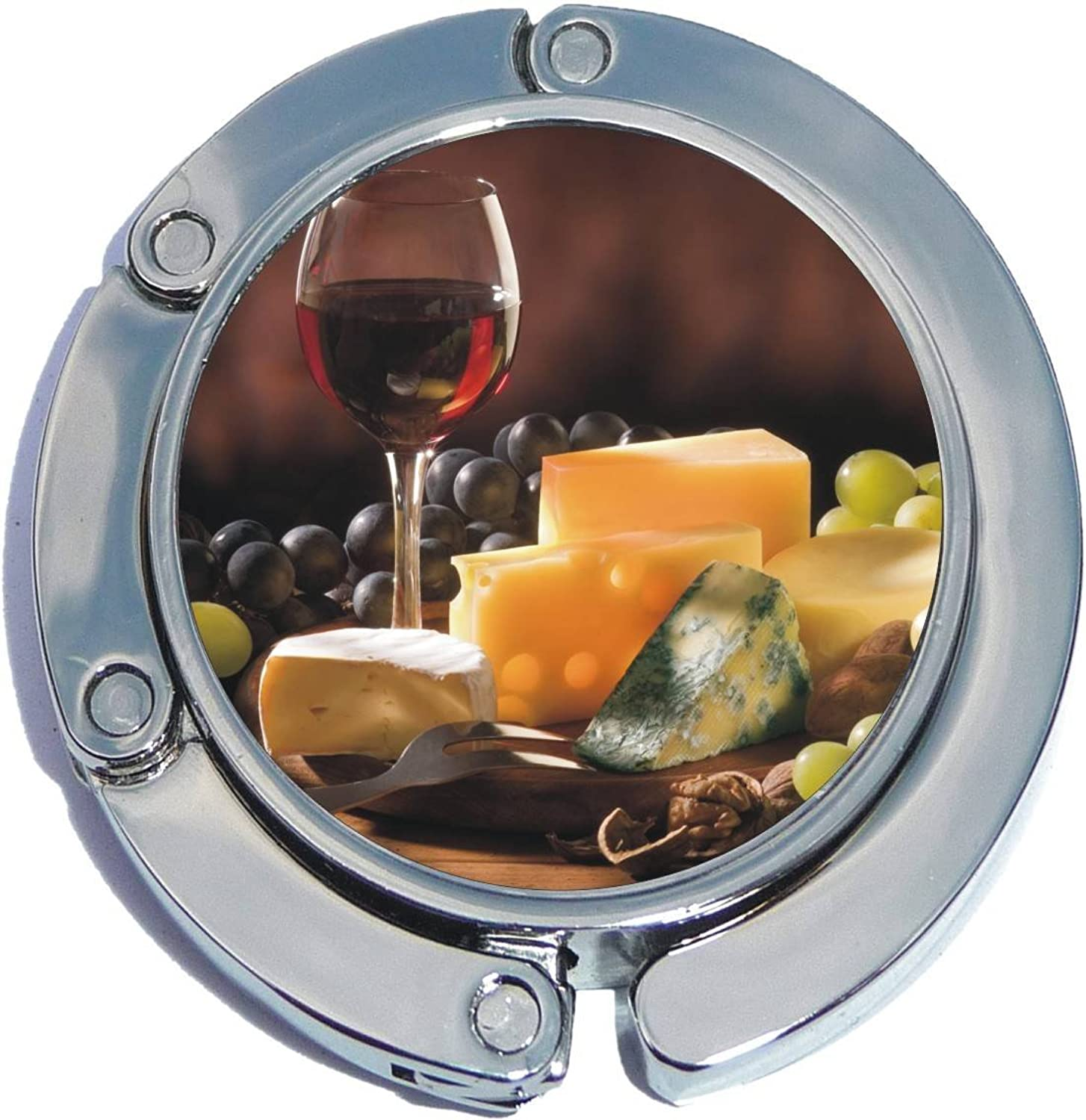 Wine and Cheese Foldable Purse Hanger