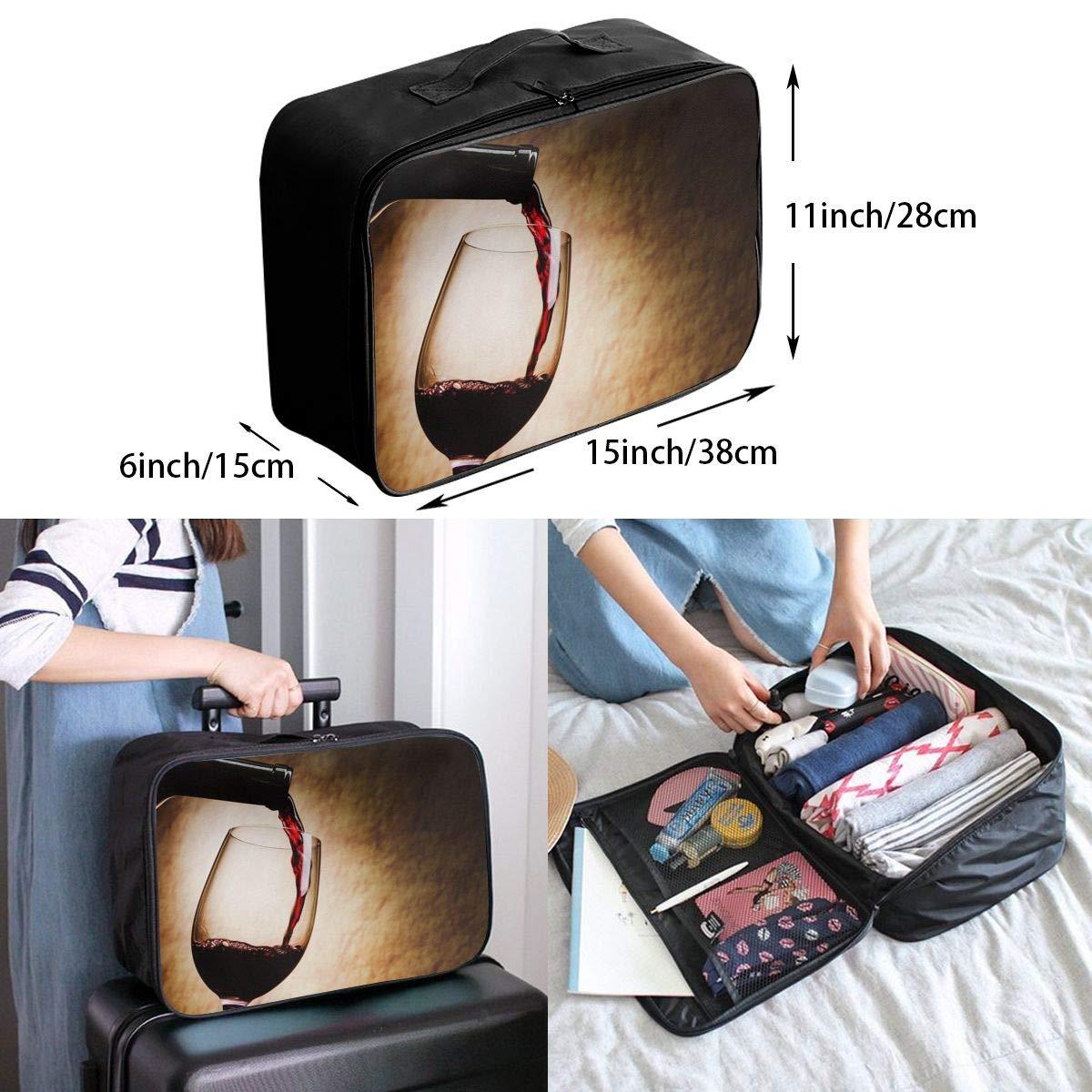 Travel Luggage Duffle Bag Lightweight Portable Handbag Red Wine Glasses Large Capacity Waterproof Foldable Storage Tote