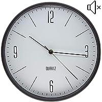 Reloj de pared con movimiento silencioso, diámetro redondo