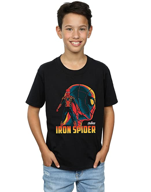 Absolute Cult Avengers Hombre Infinity War Iron Spider Character Camiseta KY32n3h0O
