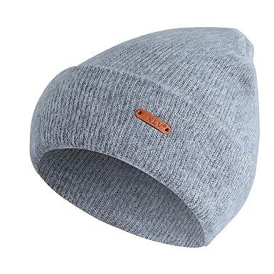 cc7c43d9cc72e Cebbay Bonnet Hommes Unisexe Femmes Chapeau à Bord,Chaud Turban Crochet  Headwear Bonnet Casquette,Hiver Beanie Slouchy Caps Bouffant Hat Chapeaux:  ...