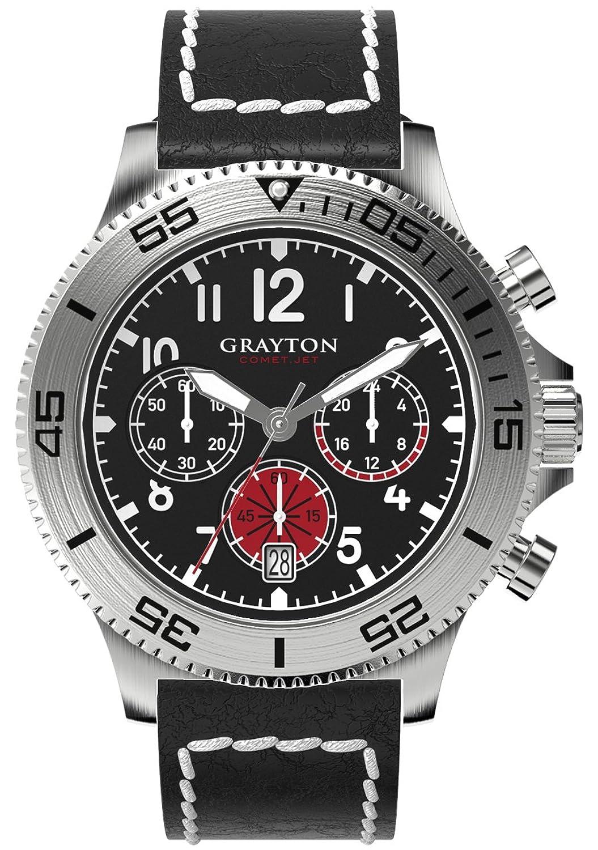 Grayton Herren-Armbanduhr Comet.Jet Analog Quarz Leder GR-0014-004.1