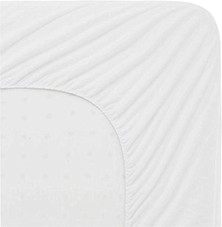 Impermeabile Non Rumoroso e ipoallergenico Matrimoniale Piccolo 122 cm Linens World Coprimaterasso in Spugna di Cotone Naturale Bianco Delicato sulla Pelle