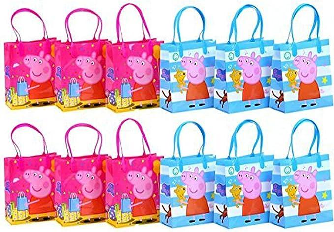 Bolsa De Regalo Bolsa Para Dulces De Peppa Pig 6 Pulgadas Tamaño Pequeño 12 Paquetes Toys Games