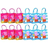 Peppa Pig Authentic Licensed Reusable Party Favor Goodie Small Gift Bags 12